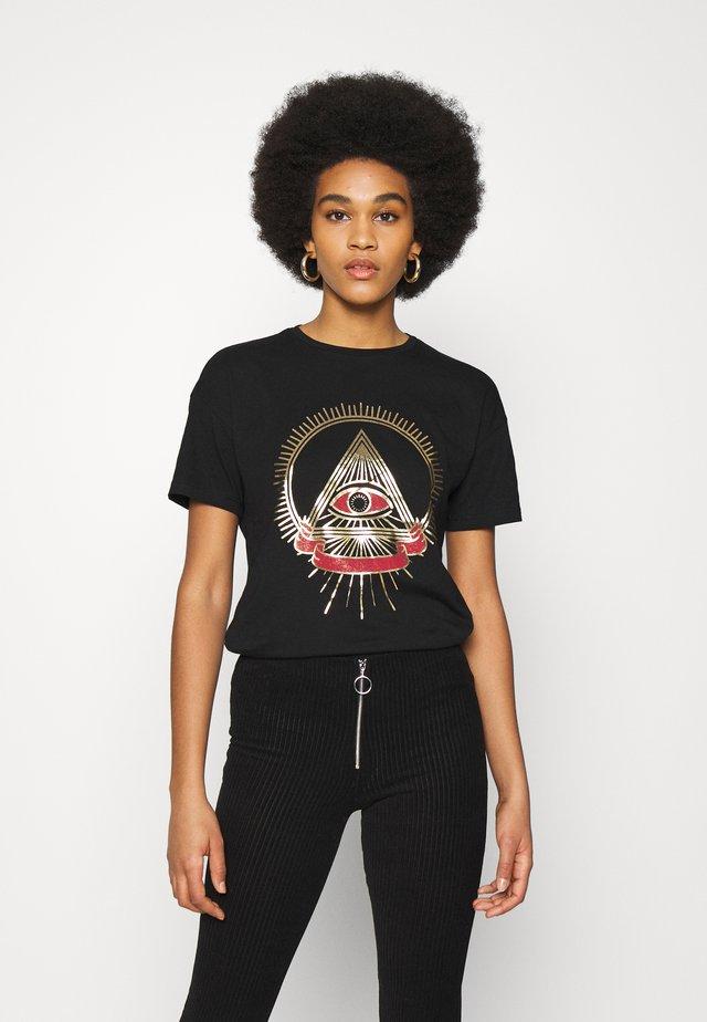 NMBRANDY SIGN - T-shirt print - black
