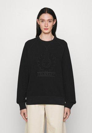 PHOENIX LOOP BACK CREW NECK - Sweatshirts - black