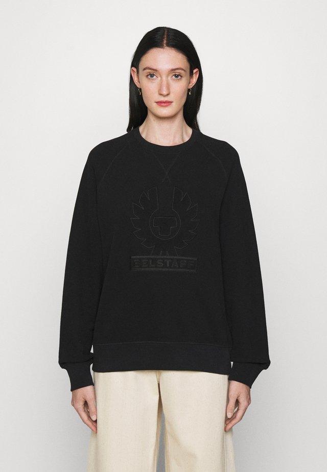 PHOENIX LOOP BACK CREW NECK - Sweatshirt - black