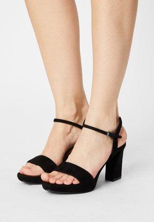 VISTA STRAP - Sandaalit nilkkaremmillä - black