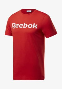 Reebok - ELEMENTS SPORT SHORT SLEEVE GRAPHIC TEE - Print T-shirt - red - 5