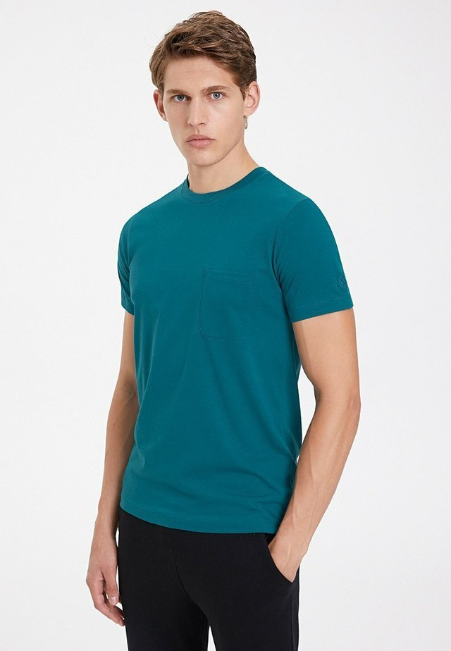 T-shirt basic - blue coral