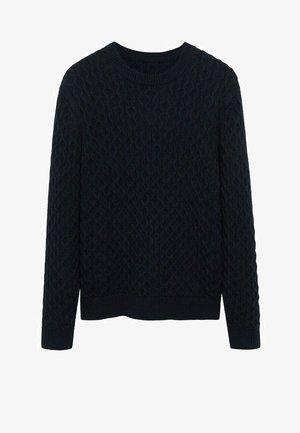 GASCON - Pullover - dunkles marineblau