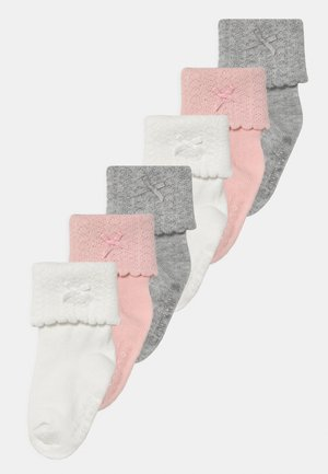 ROLL BOW 6 PACK - Socks - light pink/multi-coloured