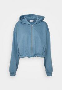 Weekday - MIRIAM ZIP HOODIE - Zip-up sweatshirt - blue - 4