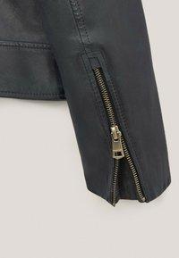 Massimo Dutti - Faux leather jacket - blue-black denim - 4
