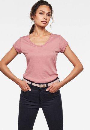 CORE EYBEN SLIM - Basic T-shirt - garnet bleach