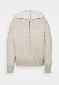 sandro - Zip-up sweatshirt - gris chiné - 3