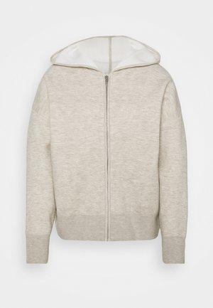 Zip-up sweatshirt - gris chiné