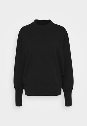 OCTAVIA T NECK - Jumper - black