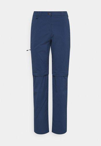 ACTIVATE LIGHT ZIP OFF WOMEN - Trousers - dark indigo