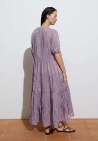 OYSHO - LONG STAMP  - Maxi dress - mauve - 2