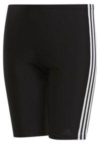 adidas Performance - FIT 3 STRIPES PRIMEBLUE SWIM REGULAR JAMMER - Zwemshorts - black/white - 1