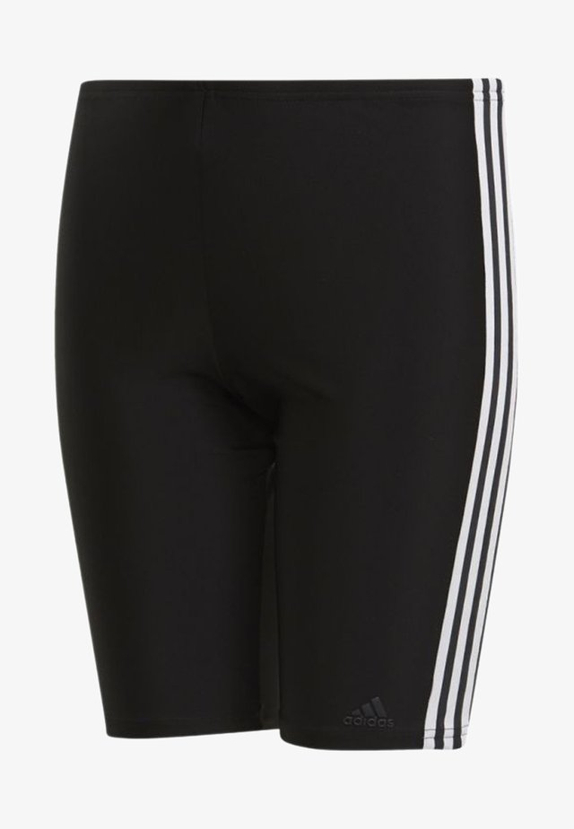 3-STRIPES SWIM JAMMERS - Swimming trunks - black/white