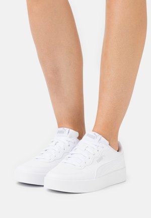 SKYE CLEAN - Sneakers basse - white/silver