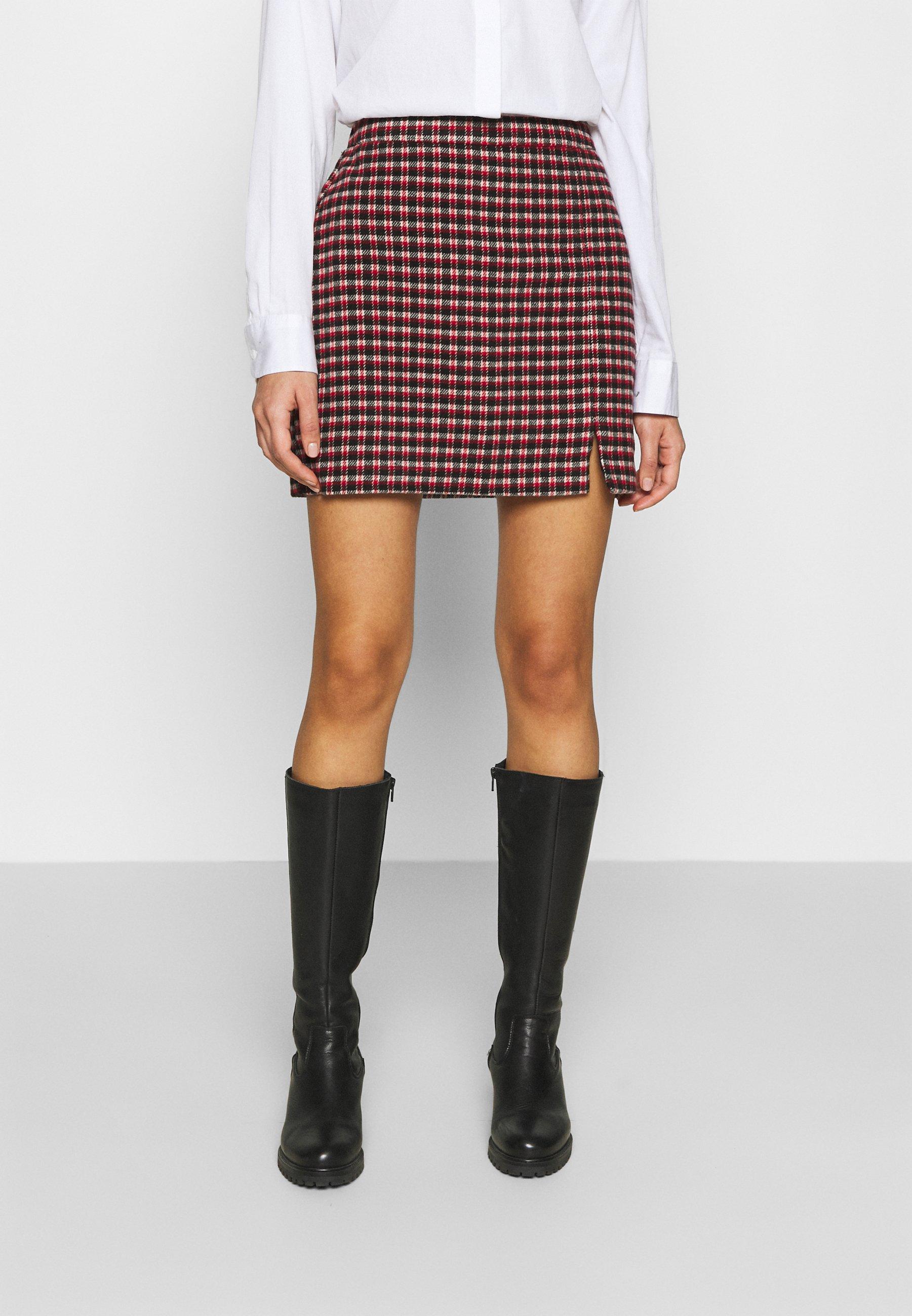 Women PLAID MINI NA - Mini skirt