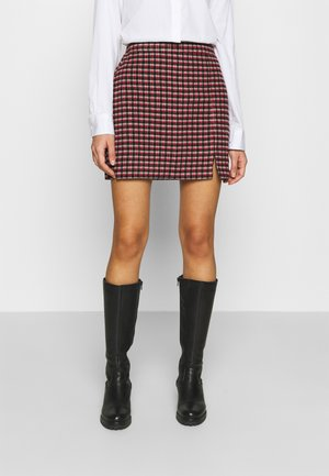 PLAID MINI NA - Minijupe - red/cream/black