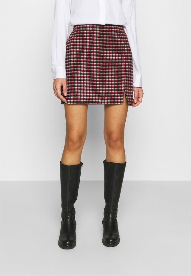 PLAID MINI NA - Minirock - red/cream/black