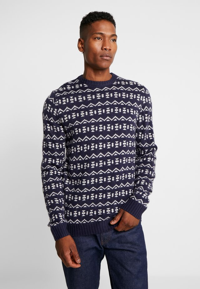 FOLK FAIRISLE CREW NECK  - Jumper - navy