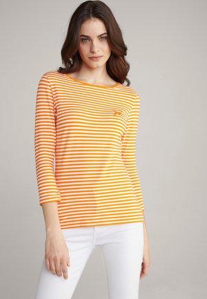 Long sleeved top - orange/weiß