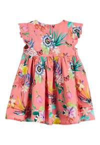 Next - CORAL FLORAL DRESS WITH MATCHING KNICKERS (0MTHS-2YRS) - Boxerky - pink - 2