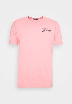 T-shirt z nadrukiem - old rose