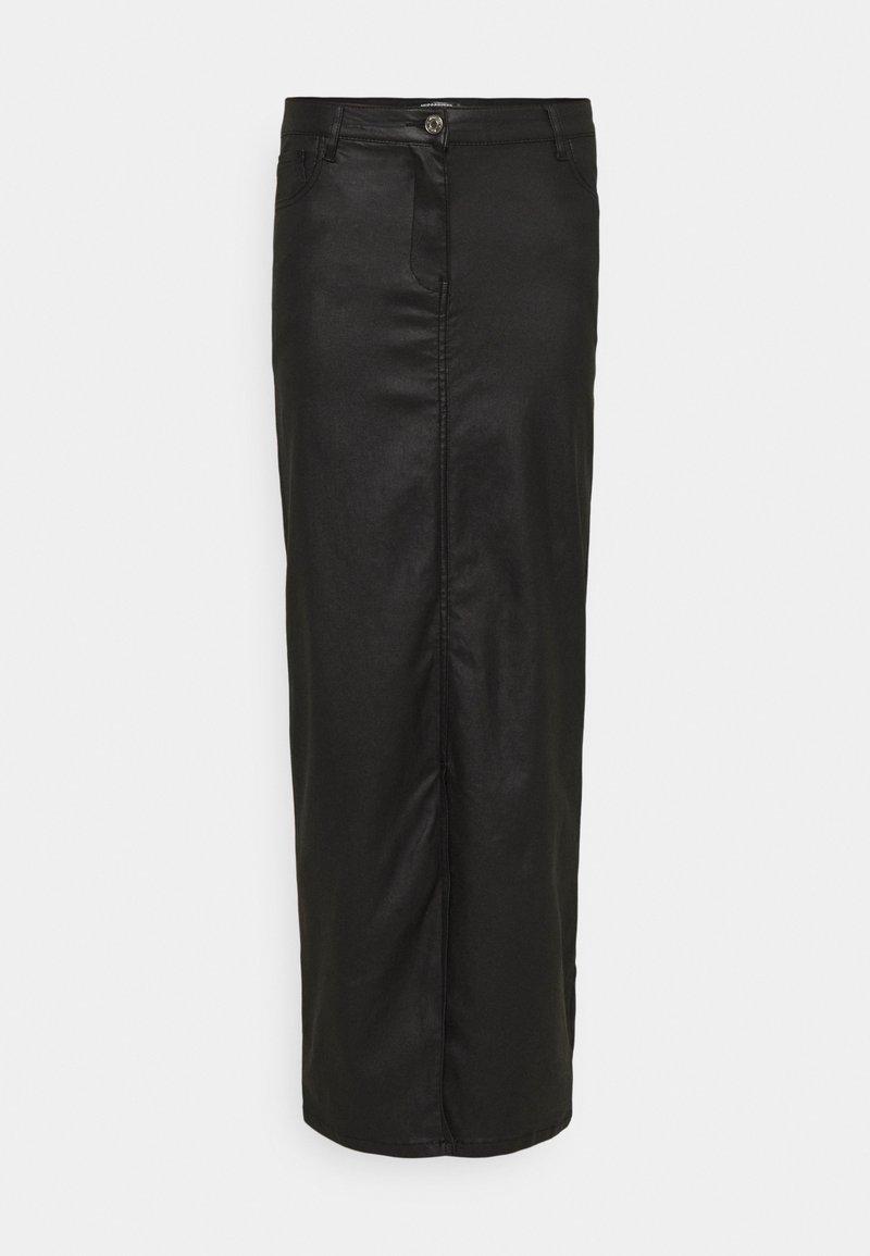 Missguided Tall - COATED FRONT SPLIT SKIRT - Pencil skirt - black