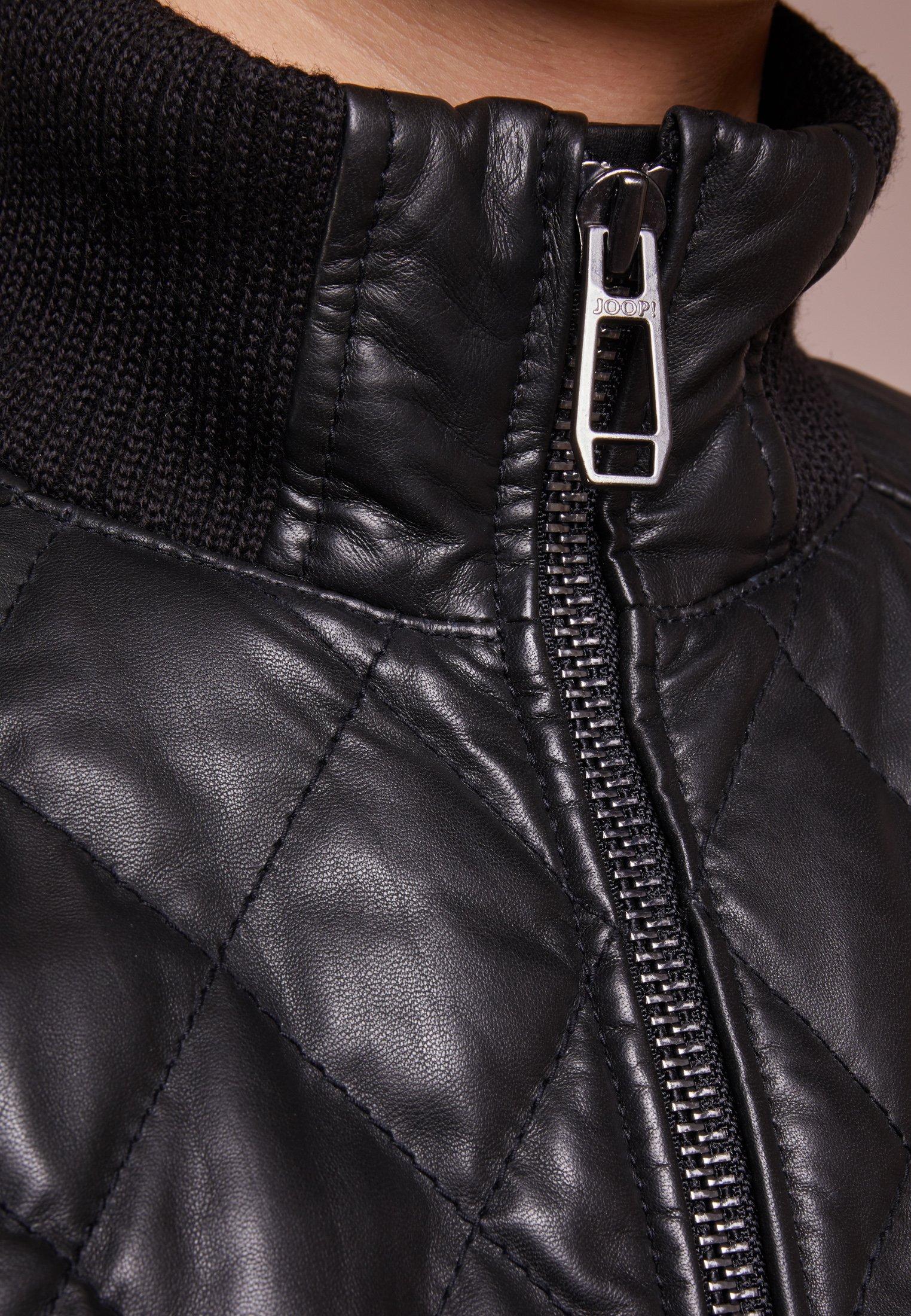 JOOP! GREG Veste en cuir schwarz ZALANDO.FR