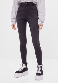 Bershka - Jeggings - dark grey - 0