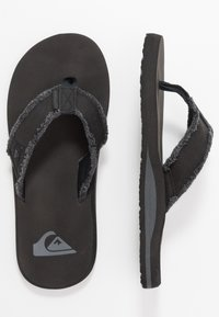 Quiksilver - MONKEY ABYSS - T-bar sandals - black/brown - 1