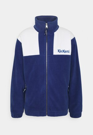 PANELLED - Fleece jacket - navy
