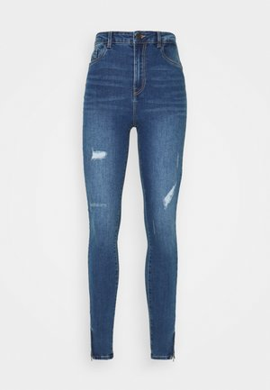 VMSOPHIA SHAPE ZIP - Jeans Skinny Fit - medium blue denim