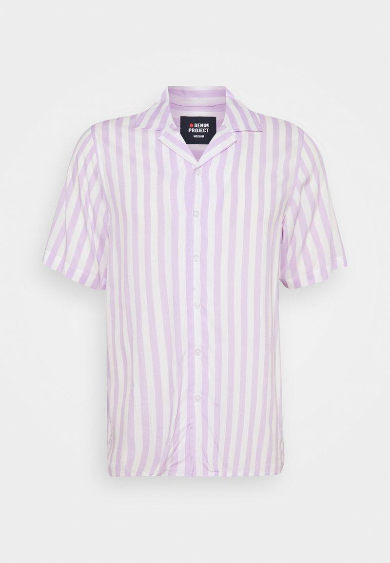 Denim Project - EL CUBA - Overhemd - white/pastell lilac