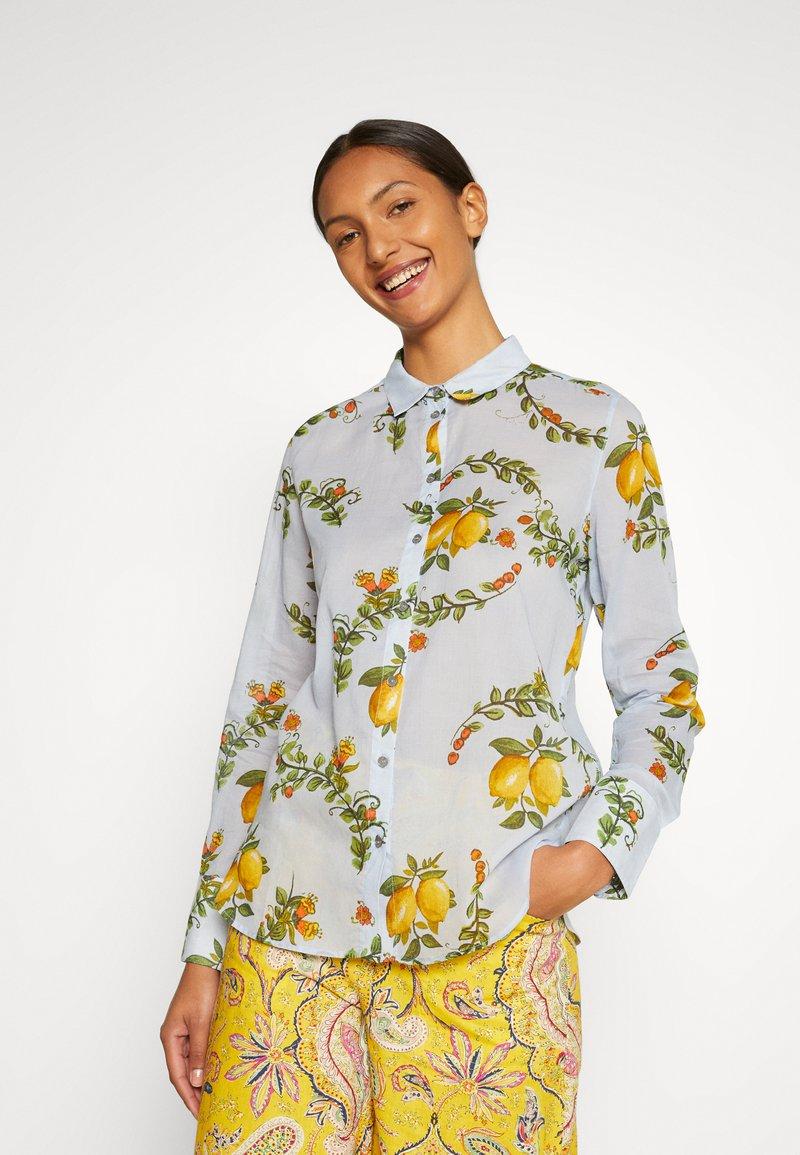 Desigual - IRIS - Button-down blouse - blue