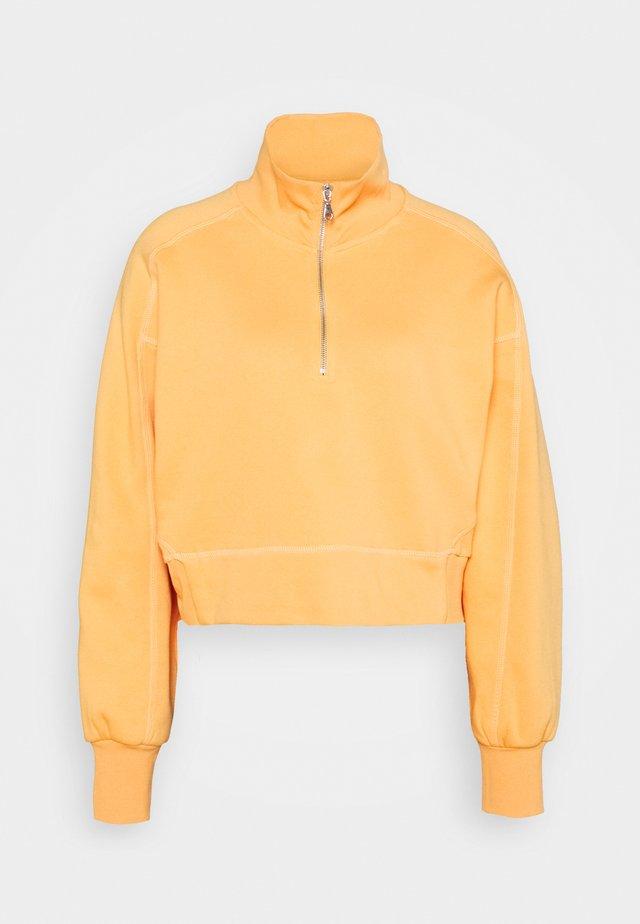 ALDORA HALF ZIP - Sweatshirt - bright orange