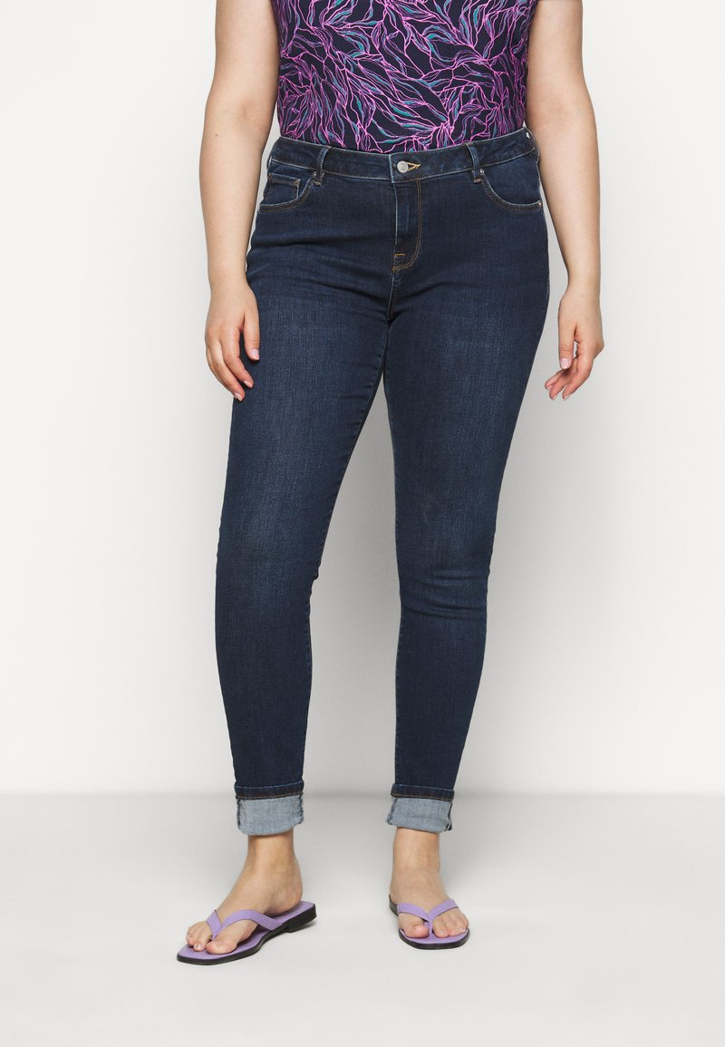 Selected Femme Curve - SLFINA - Skinny-Farkut - dark blue denim