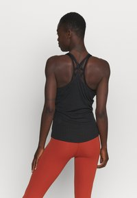 Nike Performance - POINTELLE TANK - Sportshirt - black/dark smoke grey - 2