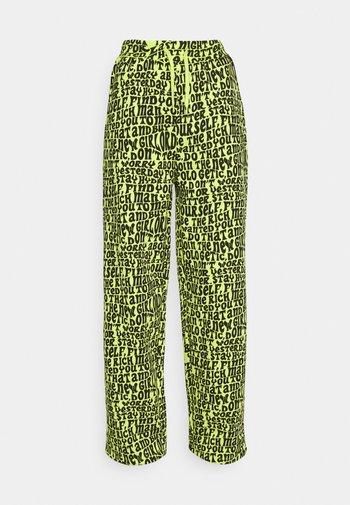LIME NGO JOGGER - Pantaloni sportivi - lime
