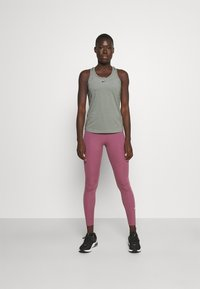 Nike Performance - ONE SLIM TANK - Topper - particle grey/black - 1
