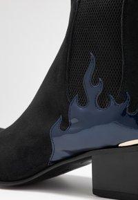 Jeffery West - SYLVIAN - Cowboy/biker ankle boot - starry/charrol metal dark blue - 5
