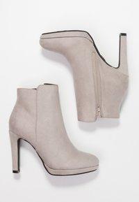 Buffalo - High heeled ankle boots - light grey - 3