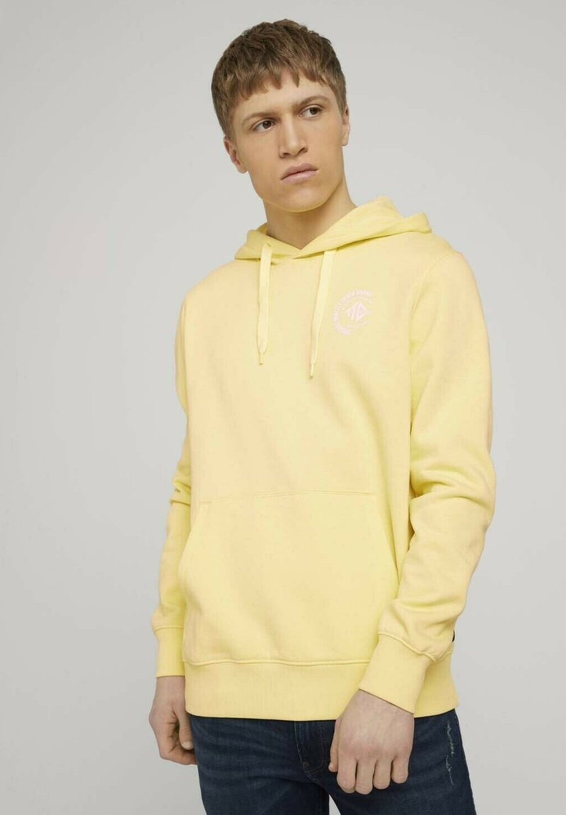 TOM TAILOR DENIM - Hoodie - cream yellow melange