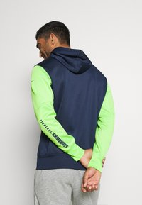 Nike Performance - NFL SEATTLE SEAHAWKS LEFT CHEST MASCOT FULL-ZIP THERMA HOOD - Klubové oblečení - college navy/action green - 2