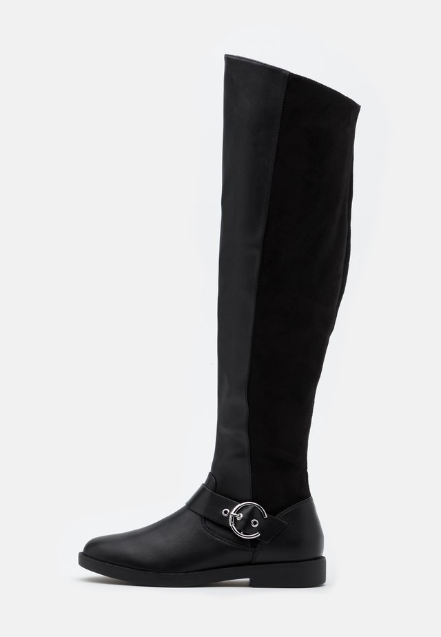 ONLTYRA LONG SHAFT BOOT  - Ylipolvensaappaat - black