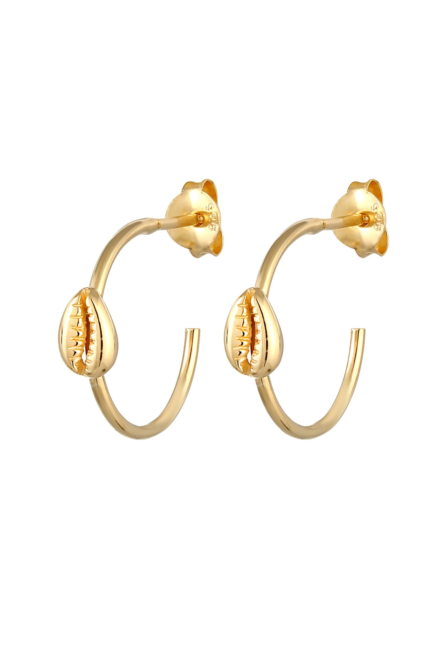 Elli Creolen Kauri-muschel - Ohrringe Gold-coloured/gold