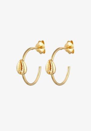 CREOLEN KAURI-MUSCHEL  - Earrings - gold-coloured