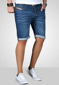 Maurelio Modriano - Denim shorts - mittelblau - 2