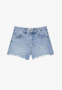 Stradivarius - Shorts di jeans - light blue - 4