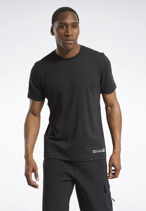EDGEWORKS GRAPHIC T-SHIRT - T-shirt z nadrukiem - black