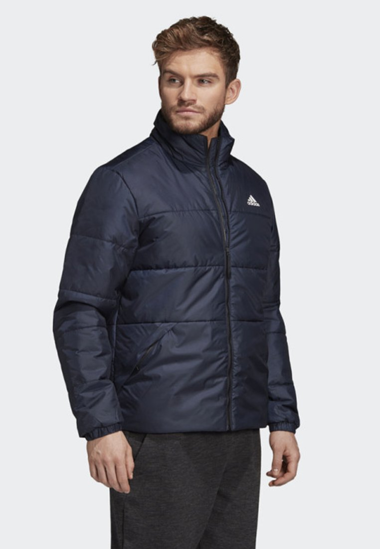 adidas BSC 3 Stripes Insulated Winter Jacket Green | adidas